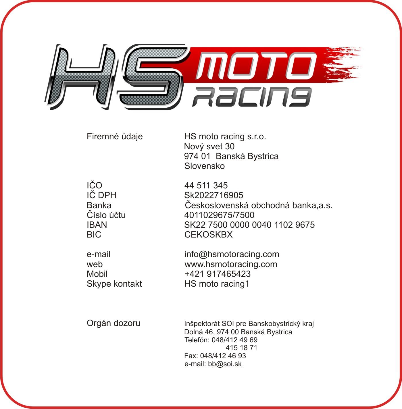 Kontakt HS moto racing
